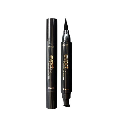 Eyeliner and Eye Wing Stamp,2 in 1 Dual-head Waterproof Eyebrow Pencil Thin Stamp Size (Best Waterproof Eyebrow Liner)