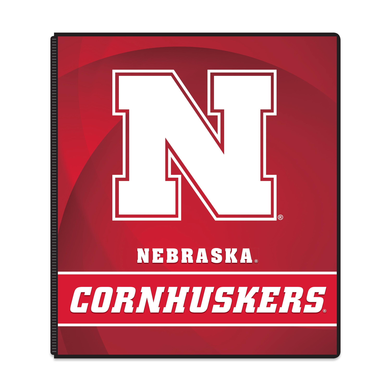"NCAA Nebraska Cornhuskers 3 Ring Binder, 175 Sheet Capacity, 1"" Metal Rings"