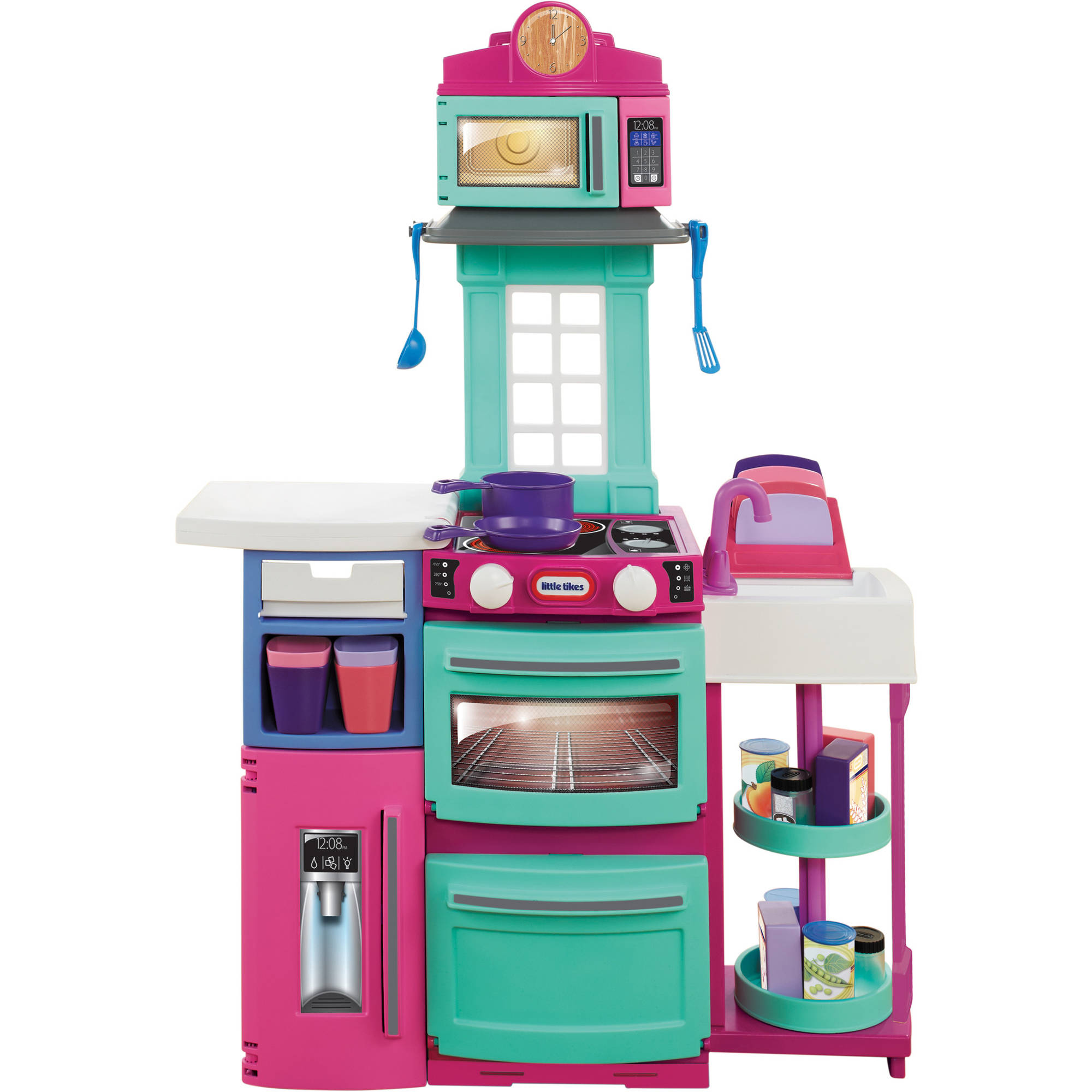 Little Tikes Cook \'n Store Kitchen, Pink with 32-piece Accessory Set ...