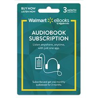 Walmart eBooks Audiobook Subscription – 3 Months (email delivery)