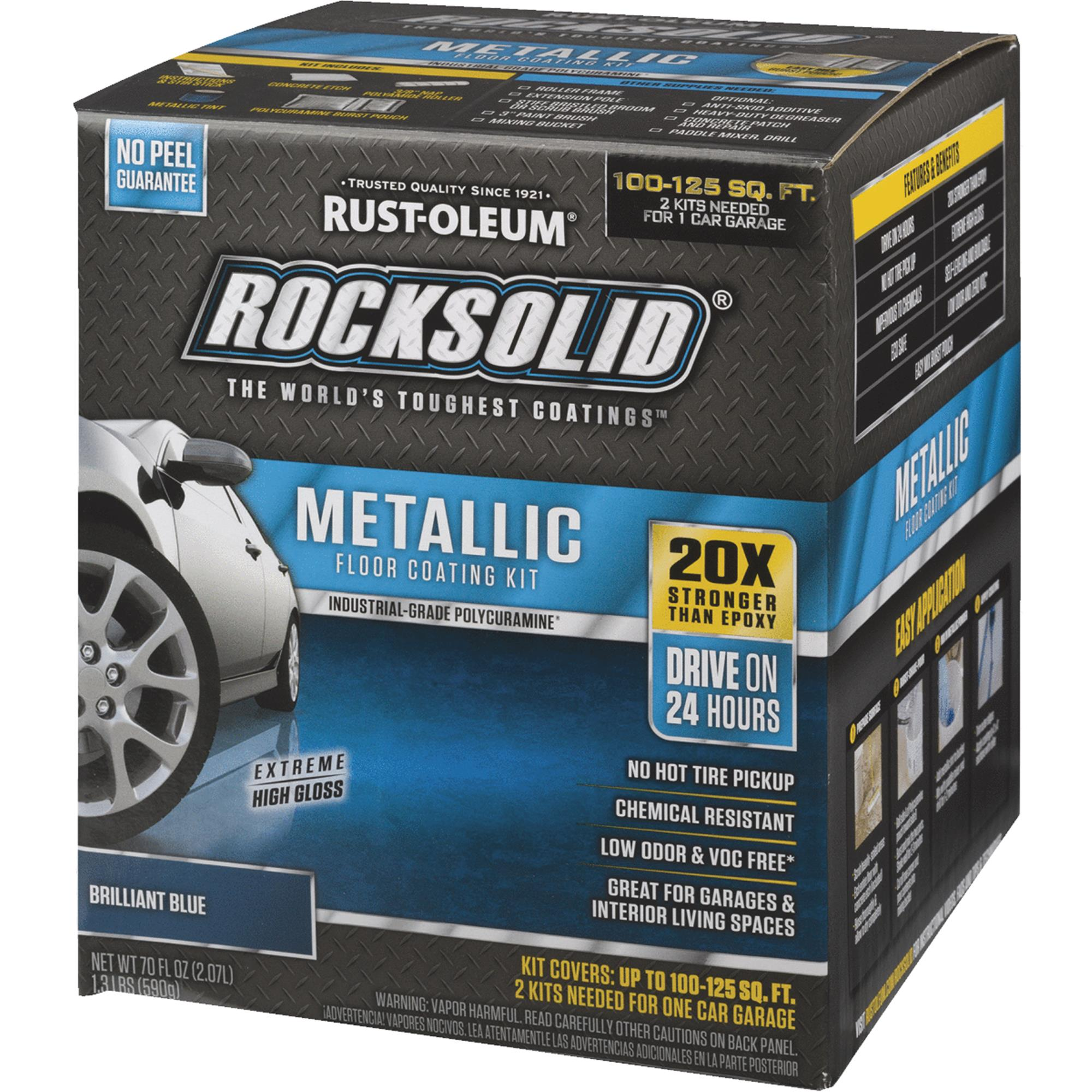 Rust-Oleum RockSolid Metallic Floor Coating Kit