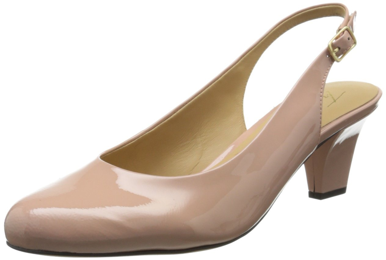 Trotters New Pink Women's Shoes 6N Pella Patent Leather Slingback by Trotters