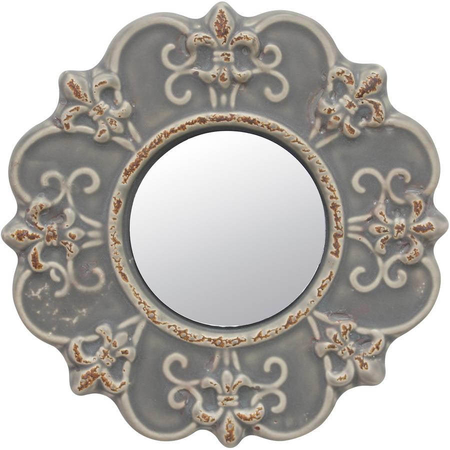 Matte Gray Ceramic FDL Mirror by CKK Home Dᅢᄅcor LP
