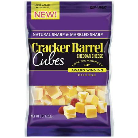 Kraft Cracker Barrel Sharp Cheddar & Sharp Marbled Cheddar Cheese ...
