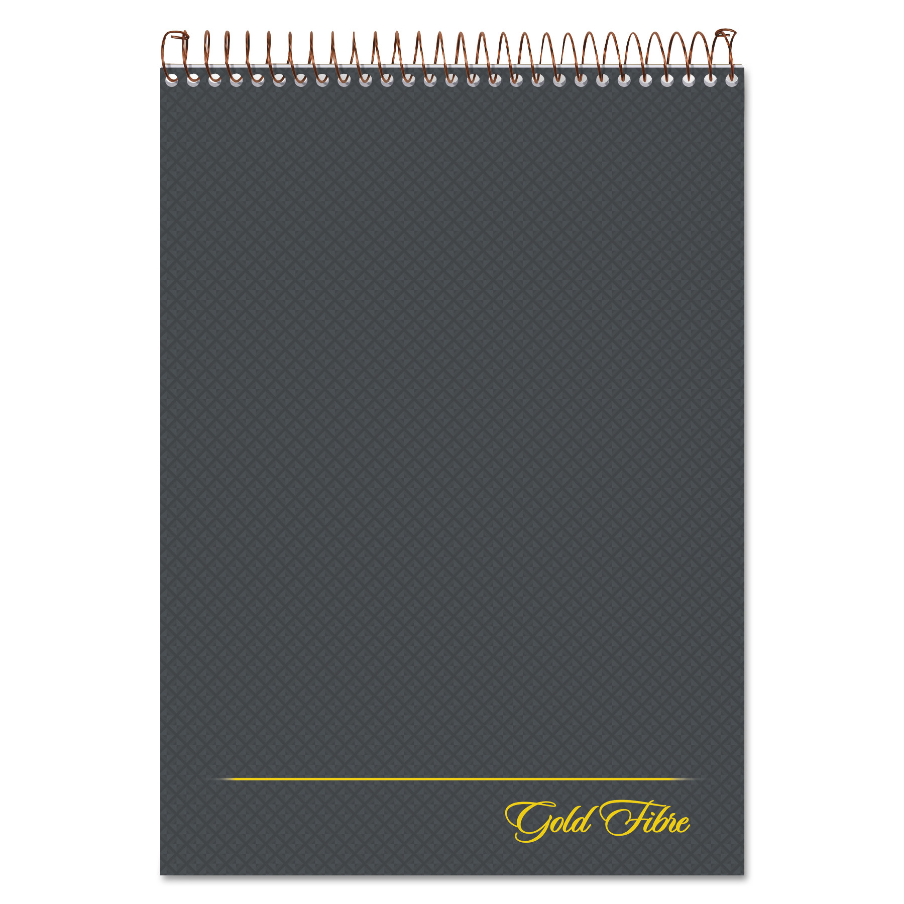 Gold Fibre Wirebound Writing Pad w  Cover, 1 Subject, Project Notes, Gray Cover, 8.5 x 11.75, 70 Pag by TOPS Products