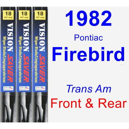 Trans Am Wiper Motor (1982 Pontiac Firebird (Trans Am) Wiper Blade Set/Kit (Front & Rear) (3 Blades) - Vision Saver)