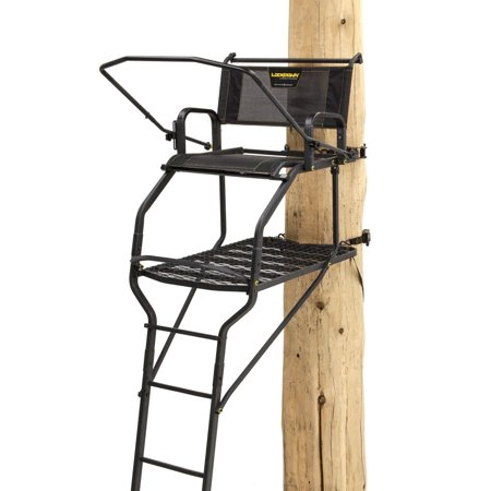 Rivers Edge RE655 Lockdown Wide 1 Man Lock On Deer Hunting Tree Ladder Stand (Hunting Ladder Stands)