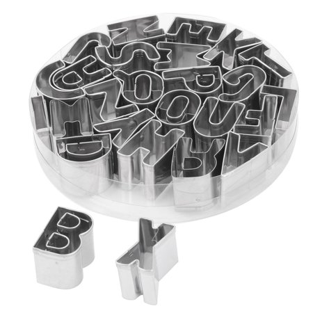Household Metal English Letter Shaped Baking Cookie Handmade DIY Mold 26 in