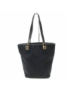 90b2aaef0a47 Product Image Bucket Monogram Shopper 869036 Black Canvas Tote. Gucci