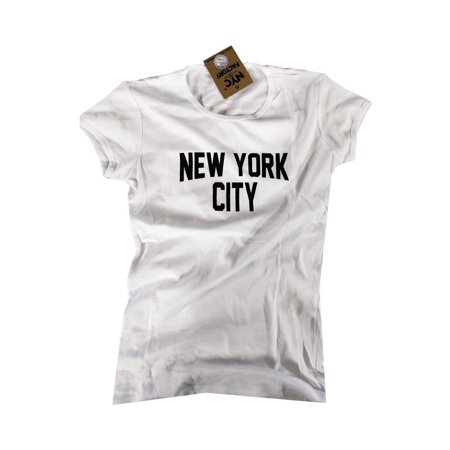 Ladies John Lennon T-Shirt Womens Cap Sleeve New York City Slim Fit ... 21e726ed749d