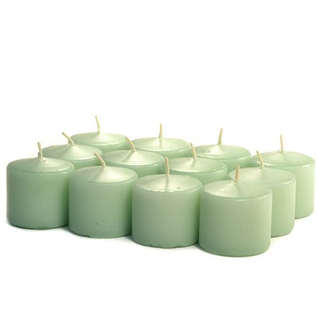 Votive Mint - 3 Boxes of Unscented Mint Green Votives 10 Hour Votive Candles Pack: 12 per box 1.5 in. diameter x 1.25 in. tall