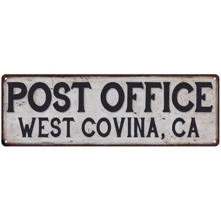 WEST COVINA, CA POST OFFICE Vintage Look Metal Sign Chic Retro 6182334 for $<!---->