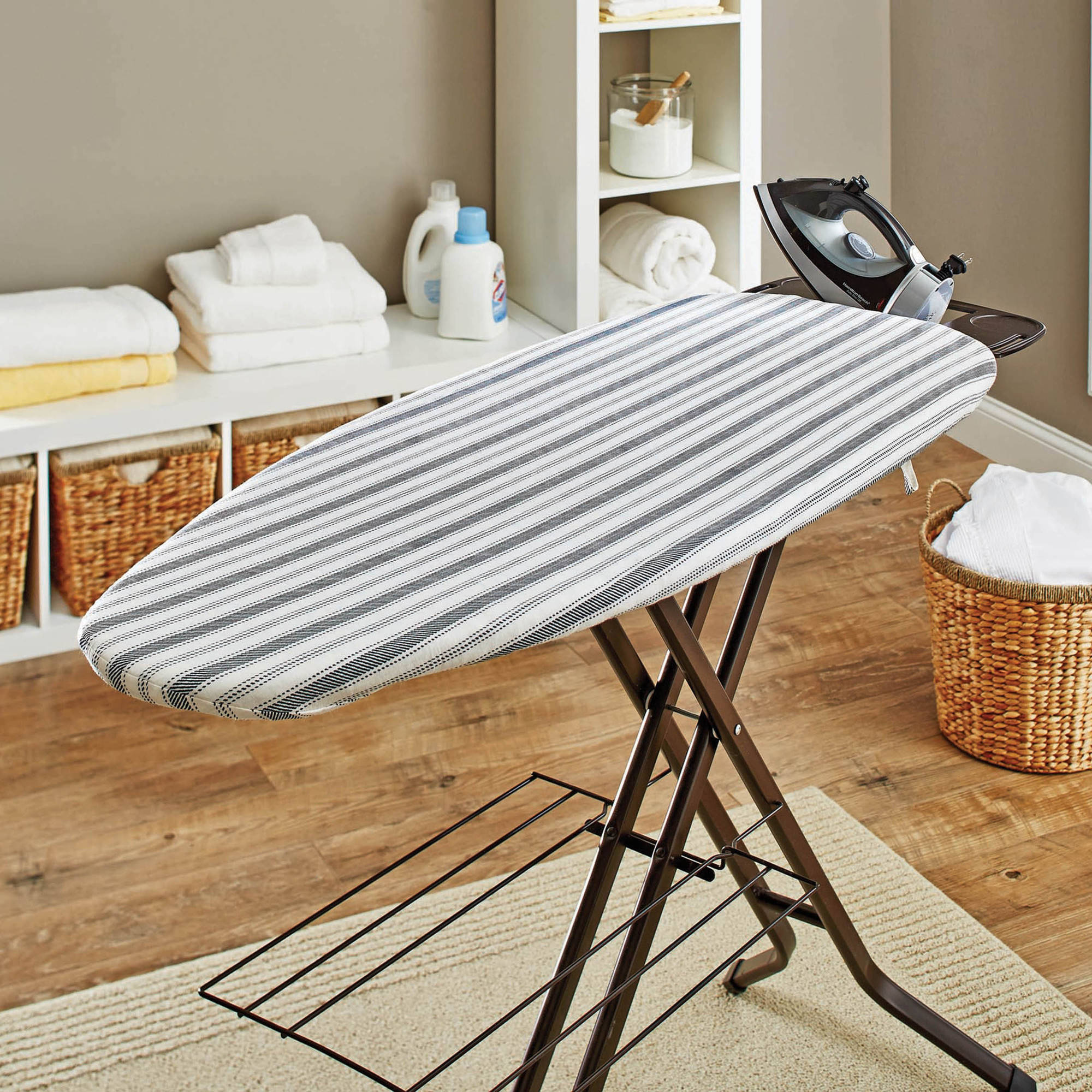Better Homes and Gardens Wide Top Ironing Board Pad and Cover, Ticking Stripe