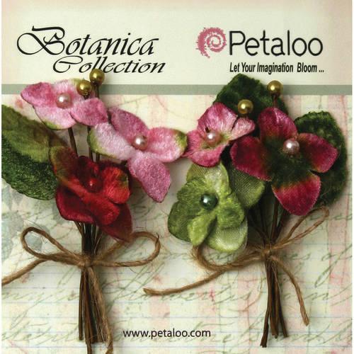 """Botanica Vintage Velvet Hydrangea Picks 2""""X4"""" 2/Pkg-Rose"""