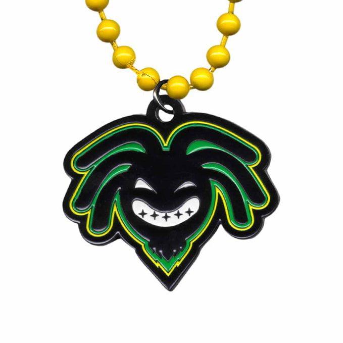 WWE Kofi Kingston Logo Pendant With Yellow Beads