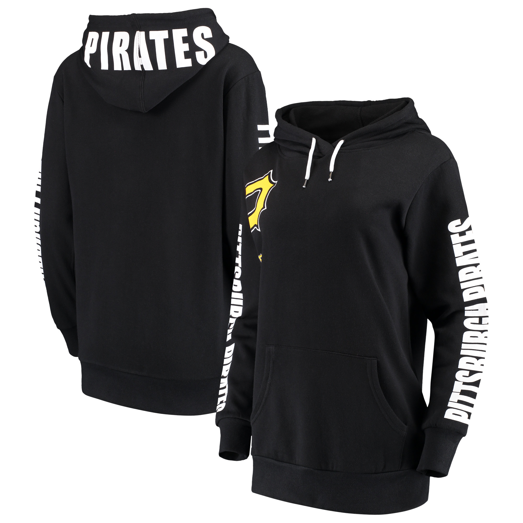 Pittsburgh Pirates G-III 4Her by Carl Banks Women's 12th Inning Pullover Hoodie - Black