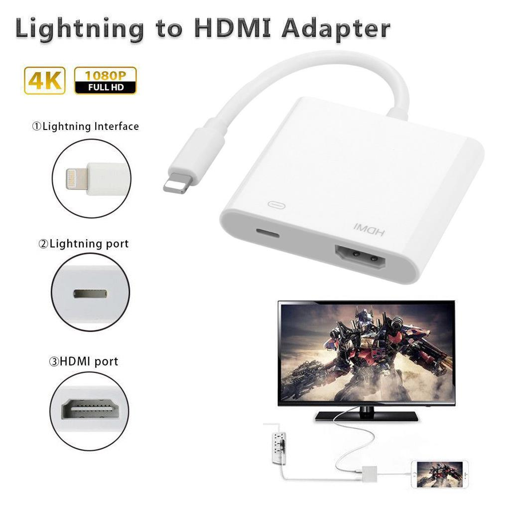 Lightning Digital AV Adapter HDMI connector connecting for iphone 5S/6S/7/8 plus iPad iPod to HDMI equipped TV Projector