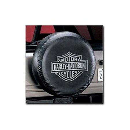 Gray Harley-Davidson Spare Tire Cover