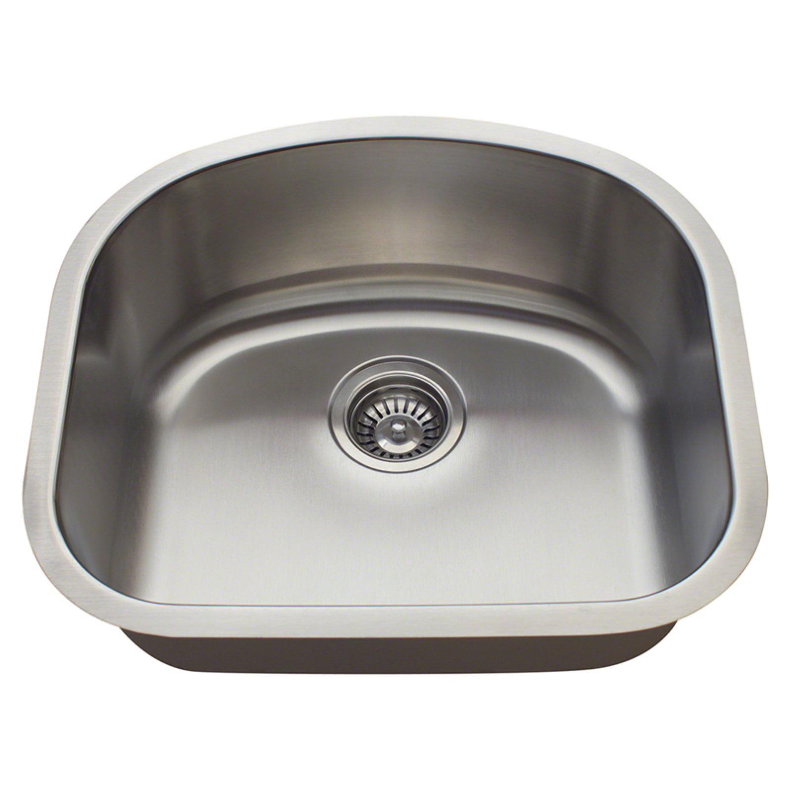 Polaris Sinks P812 Single Basin Undermount Kitchen Sink