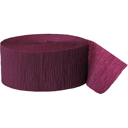 (3 Pack) Burgundy Crepe Paper Streamers, 81ft - Crepe Paper Streamers