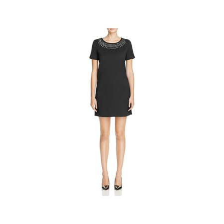 Cupcakes and Cashmere Womens Madora Keyhole Back Textured Cocktail Dress