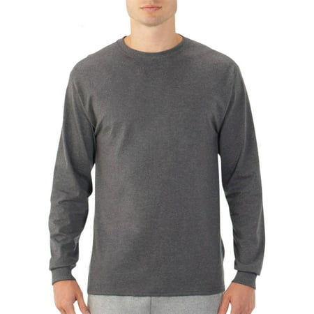 Fruit of the Loom Big Men's Long Sleeve Crew T Shirt with Rib ...