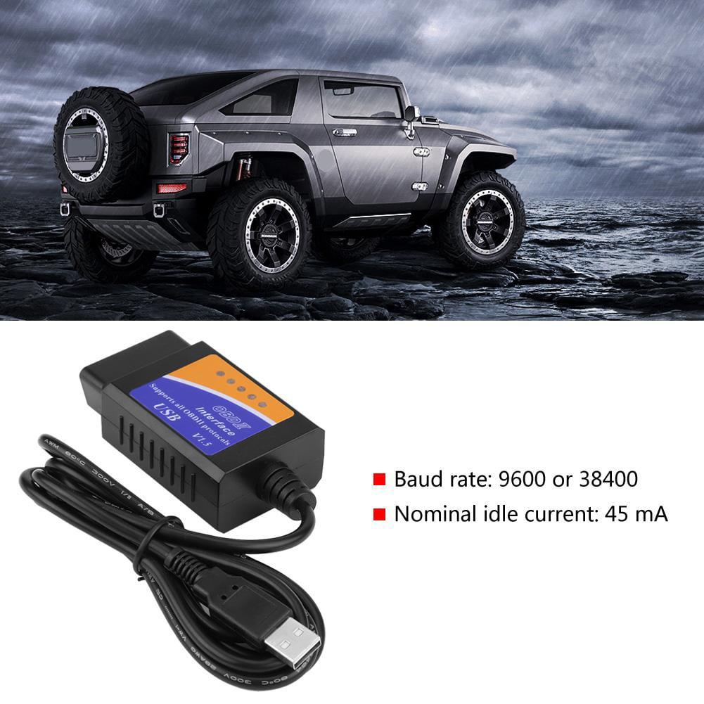 Car USB Connector V1.5 OBD2 Diagnostic Cable Interface Scanner for Benz Citroens