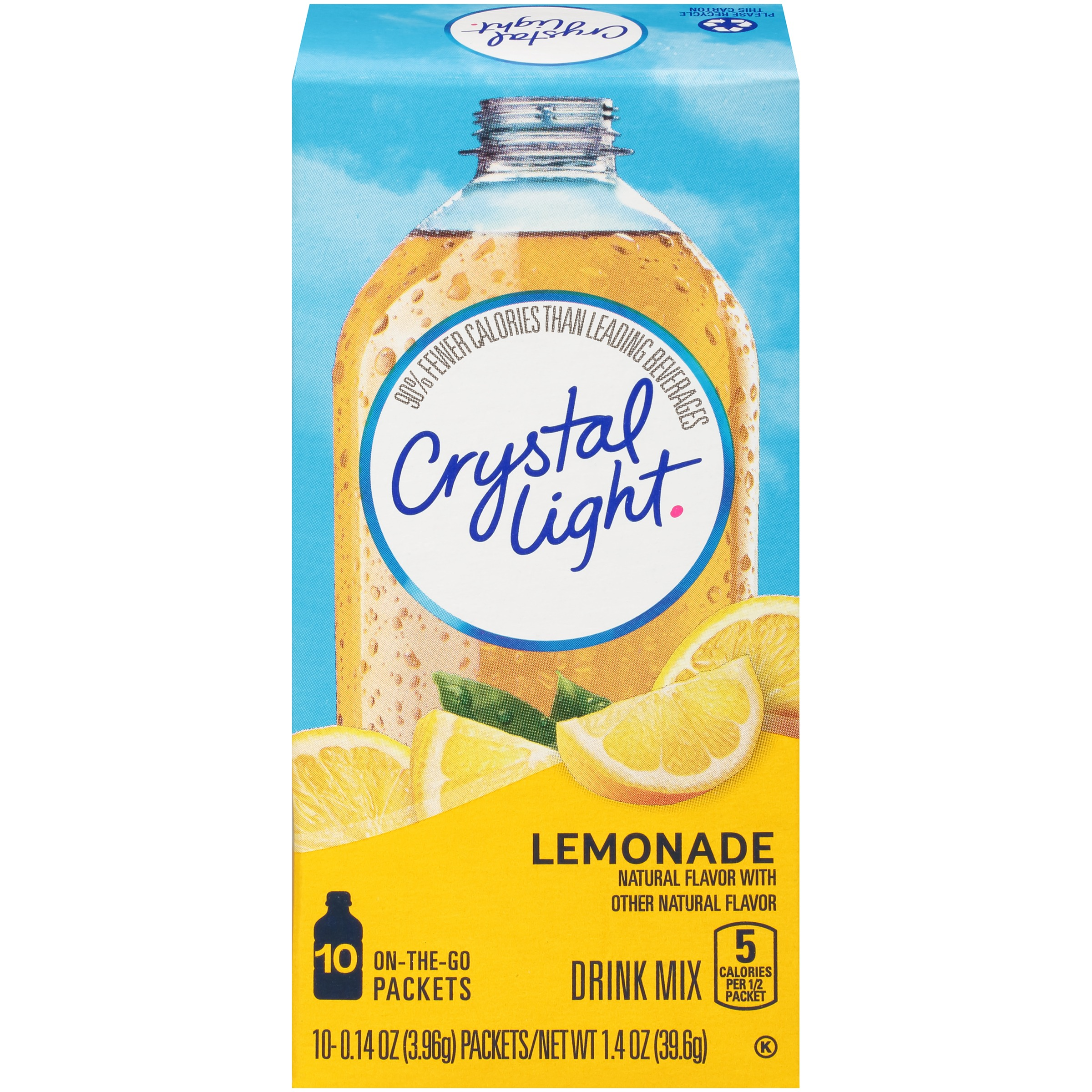 Crystal Light On-the-Go Lemonade Drink Mix 10 ct Box