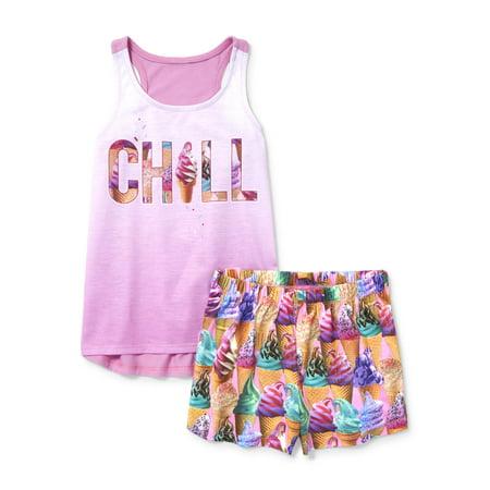 c4dff3f63 The Childrens Place - Girls  Ice Cream 2 Piece Pajama sleep Set ...