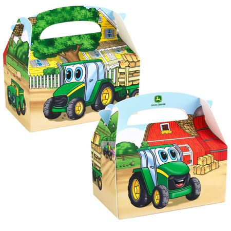 John Deere Johnny Tractor Empty Favor Boxes (4) - Tractor Favors