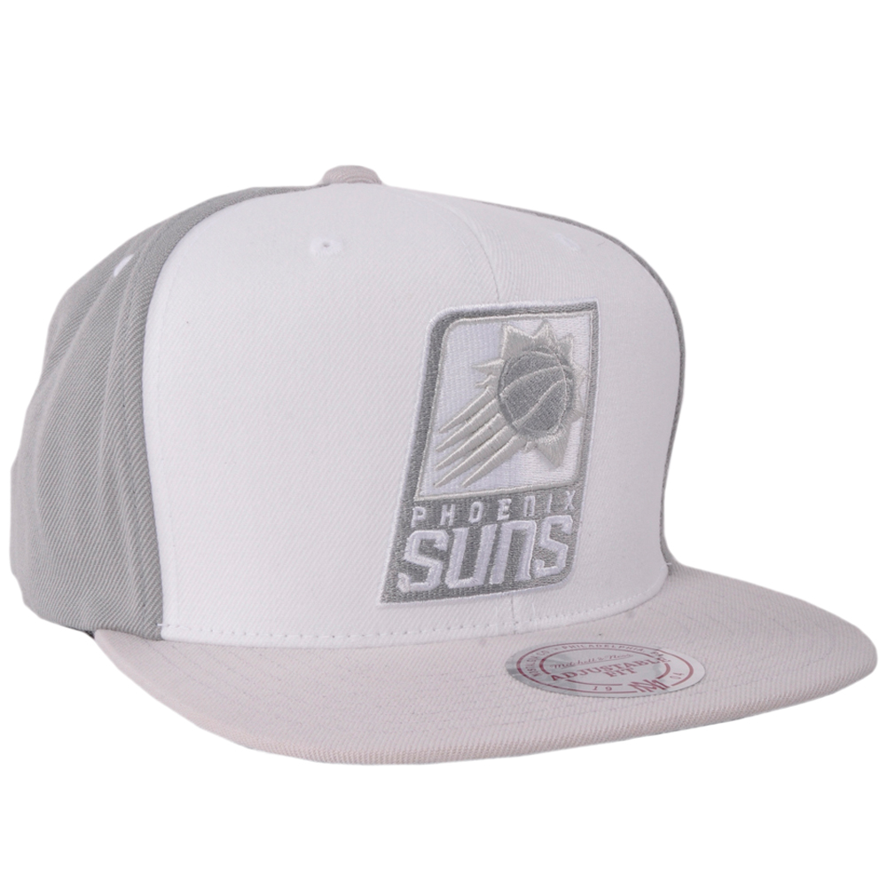 best website 38cab 02a40 ... sweden phoenix suns snapback hat mitchell ness white wall nba authentic  gray licensed 5f099 506e4