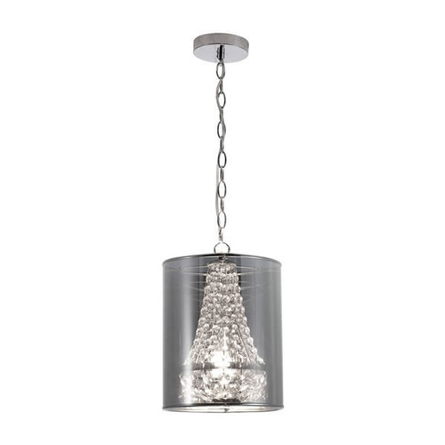 Zuo Modern Byrion Ceiling Lamp - 9.8W in. Chrome