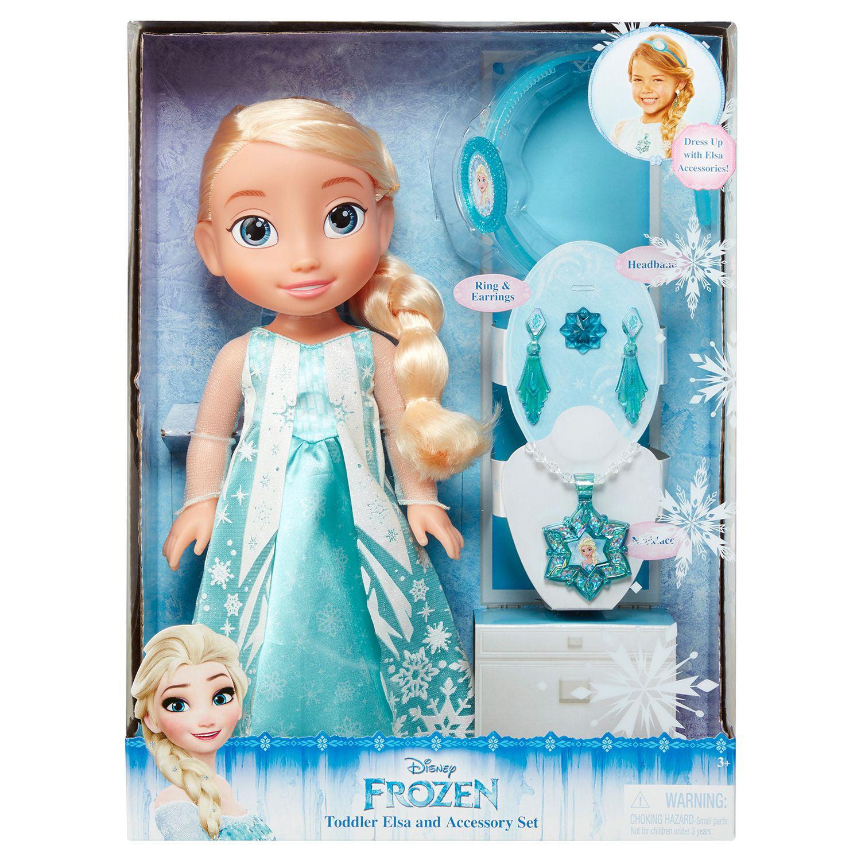 Disney Princess Elsa Toddler Doll & Accessories