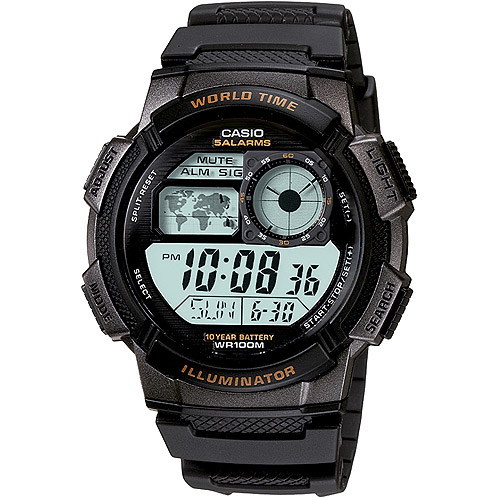 Casio Men's Digital Sport Watch, Black
