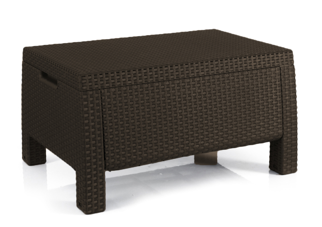 High Quality Product Image Keter Bahamas Storage Coffee Table Brown, Resin Outdoor Patio  Furniture