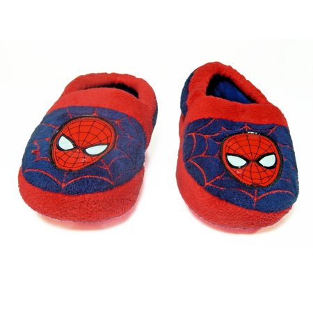 fb72e6b6607 Marvel - The Amazing Spiderman Marvel Kid Slippers Red Navy Blue House Shoes  - Walmart.com