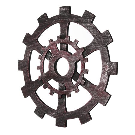 12 inch Diameter Industrial Vintage Wooden Gear Retro wall gear Wall Hanging Home Room Bar Cafe Pub Office Art Decor - image 1 of 7
