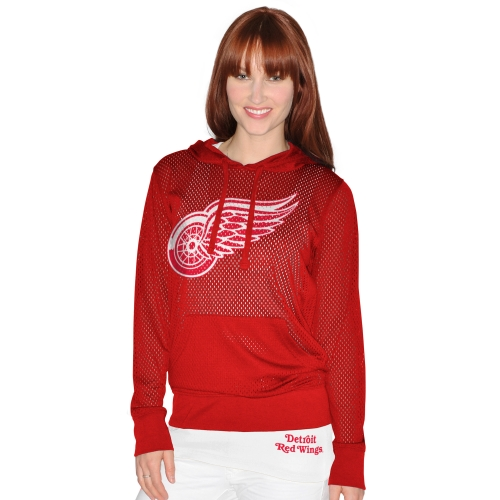 Detroit Red Wings G-III 4Her by Carl Banks Kick Off Mesh Hoodie & Tank Top Set - Red
