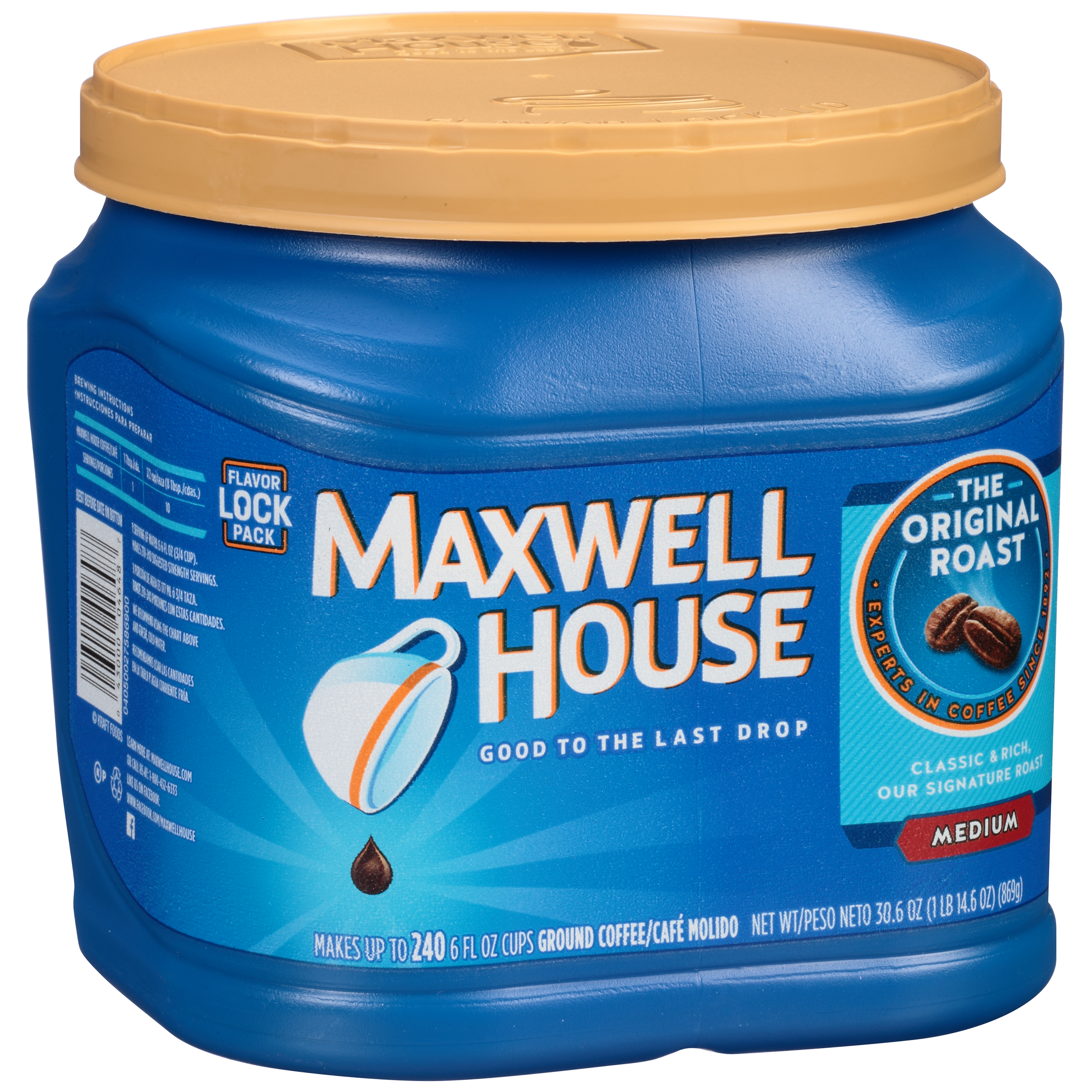 Maxwell House Original Roast Medium Ground Coffee, 30.6 oz