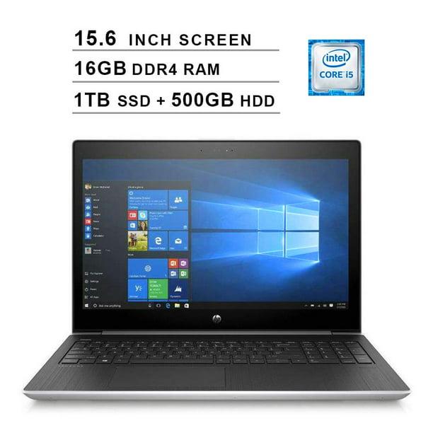 2020 HP ProBook 450 G5 15.6-Inch Premium Business Laptop (Intel Dual Core i5-7200U up to 3.10 GHz, 16GB RAM, 1TB M.2 SSD (Boot) + 500GB HDD, Intel HD 620, HDMI, WiFi, Win10 Pro, Silver)