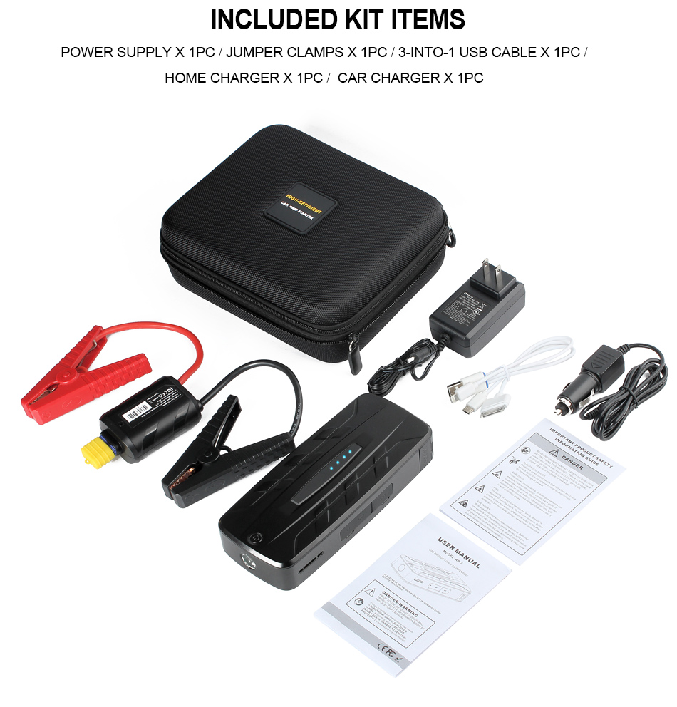 Amico AP-7 13500 mAh Portable Car Jump Starter Booster Charger Battery Power Bank