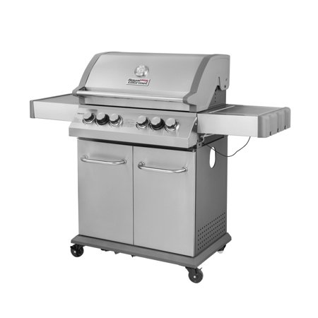 - Royal Gourmet SG4003-R 4-Burner BBQ Propane Gas Grill infrared Rear Burner, Side Burner, Stainless Steel