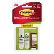 3M Command Picture Hanging Strips, Small & Medium, White, 12/Pkg.