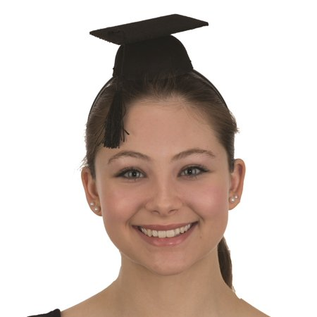 Mini Black Graduation Headband Cap Hat Costume Accessory Child Adult Graduate (Graduate Hat)