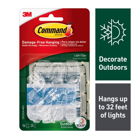 Map Hook Clip (Command Outdoor Light Clips, 16 Clips, 20)