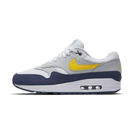 new product f9b50 d82ba Nike - Mens Nike Air Max 1 Blue Recall Tour Yellow White Grey AH8145-105 -  Walmart.com