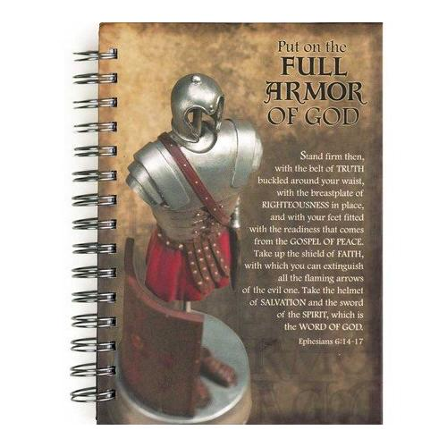 Full Armor of God Ephesians 6:14-17 Spiral Bound Hardcover 96 Lined Pages Journal