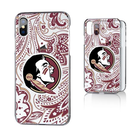 FSU Florida State Seminoles Paisley Clear Case for iPhone X