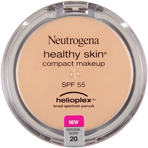 Neutrogena Healthy Skin Compact Makeup Broad Spectrum SPF 55, Natural Ivory 20, 0.35 oz
