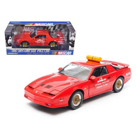 1987 Pontiac Firebird Trans Am GTA Daytona 500 Pace Car Nascar 1/18 Diecast Model Car by Greenlight - Gta Halloween Update Cars